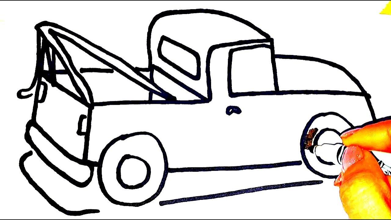 Как Нарисовать и Раскрасить Машину Погрузчик. Видео для ...