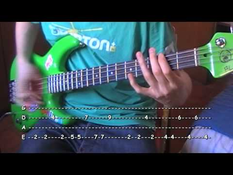 Higher Ground bass TAB Red Hot Chili Peppers