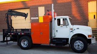 2000 International 4900 Service Truck with Hiab 026T Crane