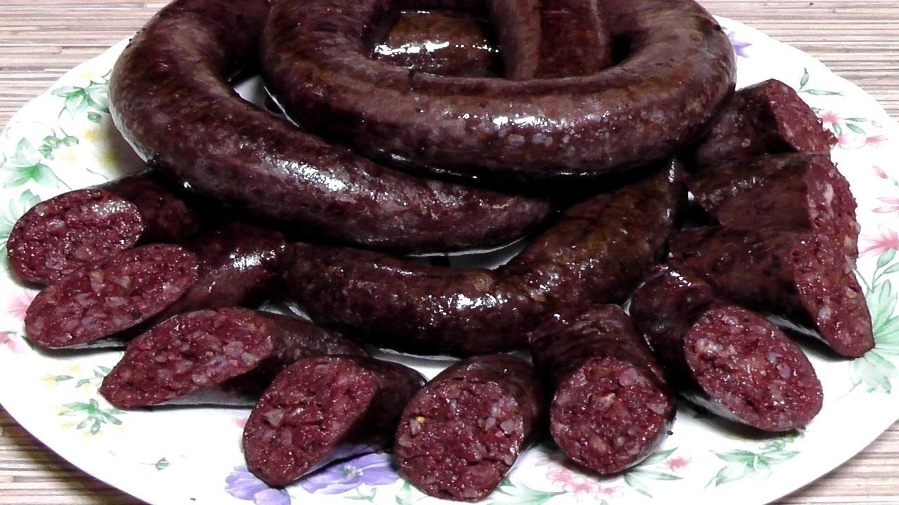 рецепт кровяной украинской колбасы
