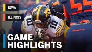 Highlights: Iowa at Illinois | Big Ten Football thumbnail
