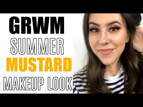 GRWM 2018 || Summer Makeup Tutorial + Pop of Mustard & Fake Freckles!