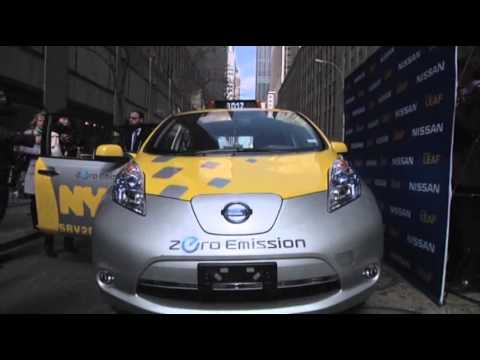 NYC Unveils First Electric Taxi Cabs