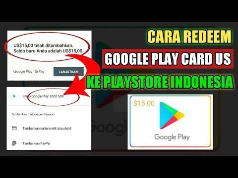 Cara Pakai / Redeem Google Play Card US Ke Play Store Indonesia