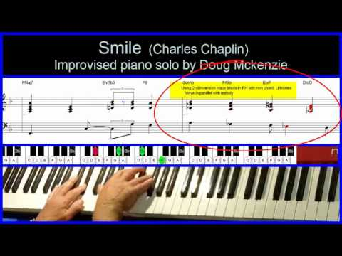 Smile - (Charlie Chaplin) - jazz piano tutorial - YouTube