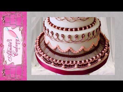 """Maroon Marvel"" Bottom Tier of Wedding Display cake"