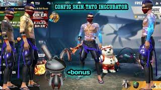 SKIN GRATIS FREE FIRE !! Config skin tato incubator !! Config skin tas season 1 !! GARENA FREE FIRE