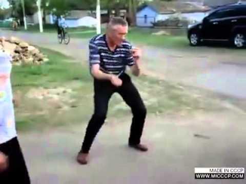 Прикол пьяный дядя танцует