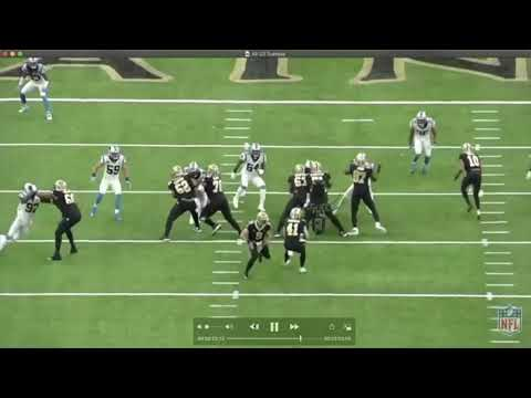 Saints Bait Panthers On This Duo Play-Action Pass