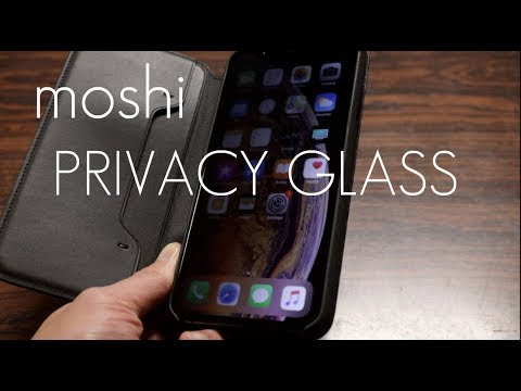 separation shoes e0cc2 b1484 The Ultimate PRIVACY GLASS screen protector for your iPhone XS Max - Moshi  IonGlass