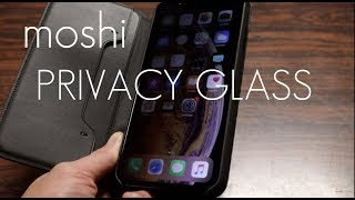 The Ultimate PRIVACY GLASS screen protector for your iPhone XS Max - Moshi IonGlass