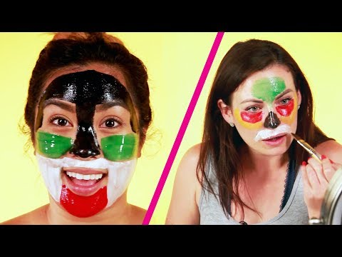 Thumbnail: We Tried Coloring Face Masks