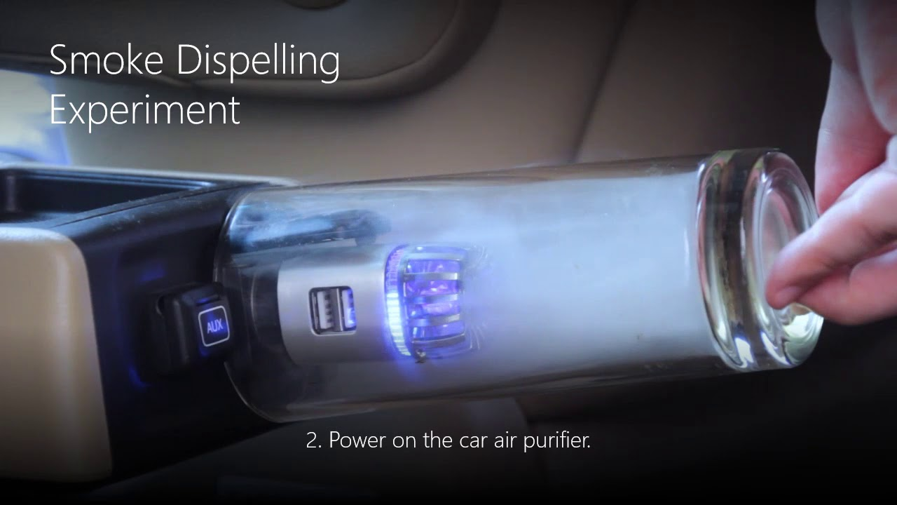 15086ff39 Car Air Purifier  Air Freshener with Dual USB Car Charger - JO-6291 Ionizer  Filter