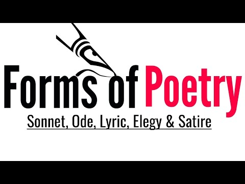Forms Of Poetry Sonnet Ode Lyric Elegy And Satire In Hindi