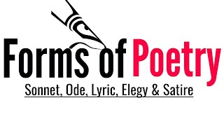 Forms of poetry: Sonnet, Ode, Lyric, Elegy and Satire in Hindi Dafinition and Example