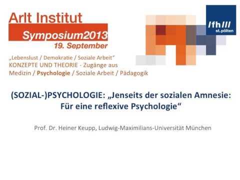 Konzepte und Theorie, Heiner Keupp, Ludwig Maximilians Universität München