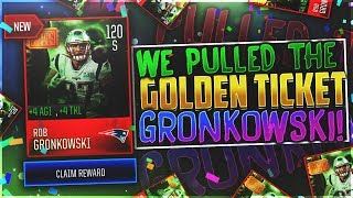 PULLING 120 GOLDEN TICKET GRONK SAFETY!? LEAKED REVIEW! BEST SAFETY IN MADDEN MOBILE!