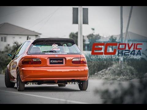 Honda Civic EG K24A Big Power Monkey Garage By BoxzaRacing.com