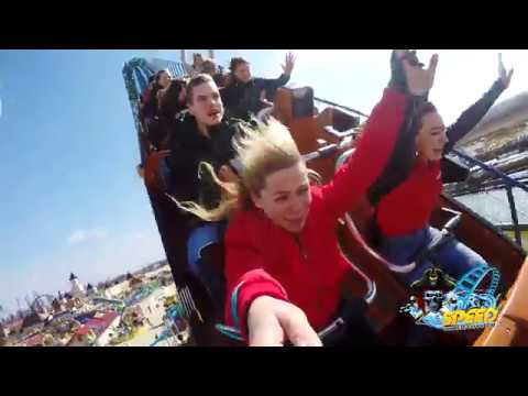Speed Water Roller Coaster Front Seat & REACTIONS POV GO PRO Energylandia