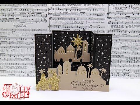 Bridge Card Night in Bethlehem Christmas Card