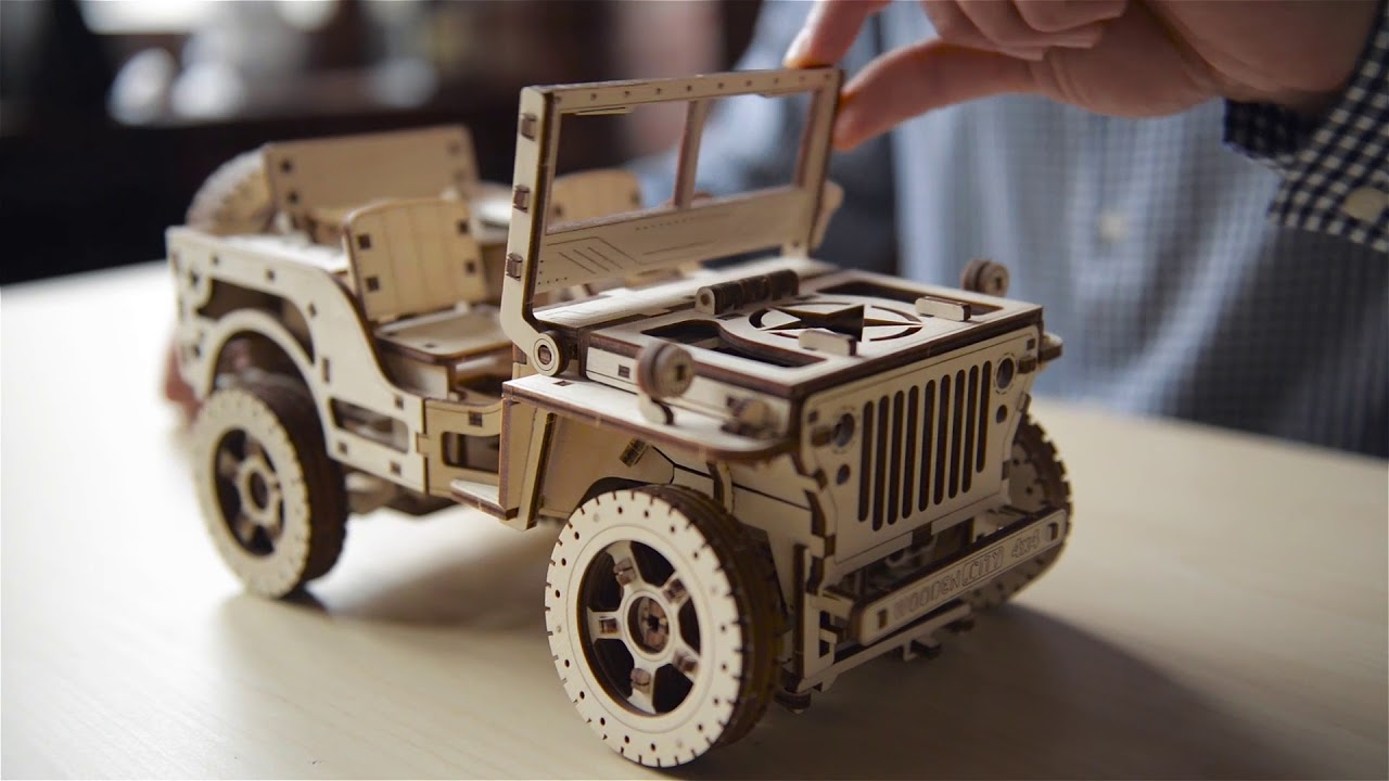 Wooden CIty Kinetic Model Kits