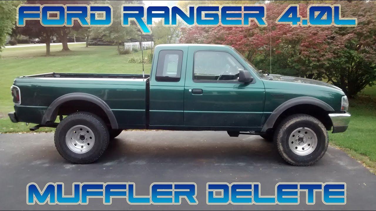 2000 ford ranger 4 0l ohv muffler delete exhaust