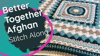 Left Hand: Crochet Better Together Afghan Pattern: Rnds 55 - 61