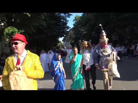 Carnival in Gabrovo,Bulgaria 2017. One shot video