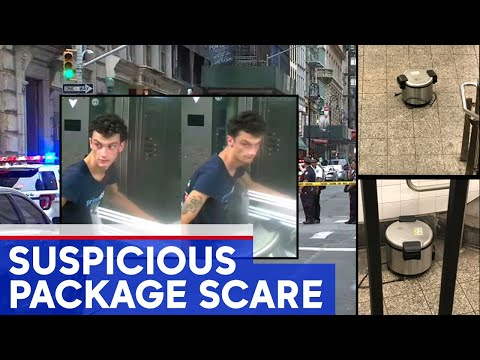 NYPD searches man after suspicious package scare in NYC