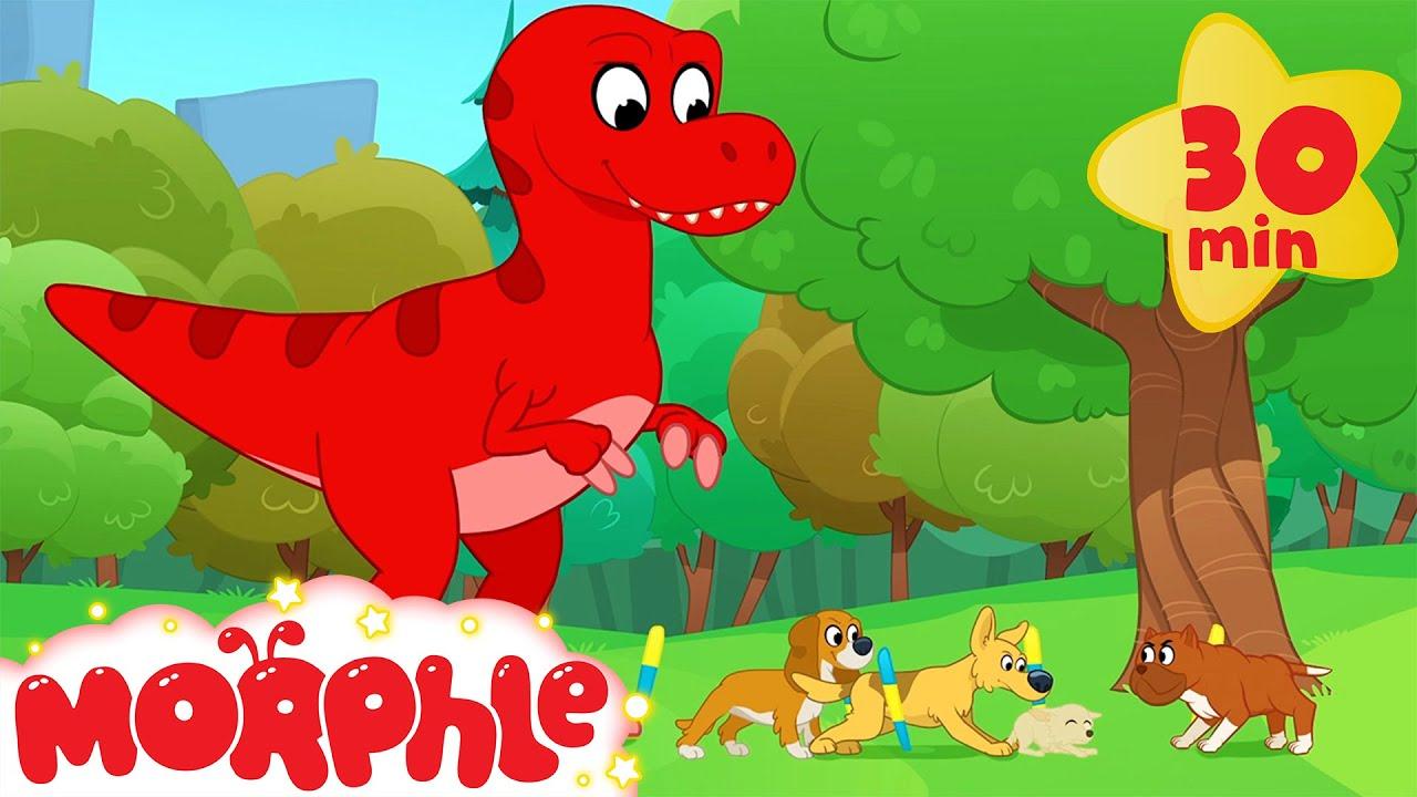 Dinosaur Dog Race  - Mila and Morphle | Cartoons for Kids | Morphle