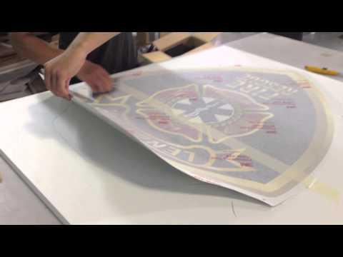 Insignia Sign Full Printing Process