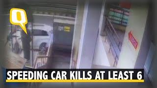 Speeding Car Rams into People Waiting at a Bus Stop in Coimbatore