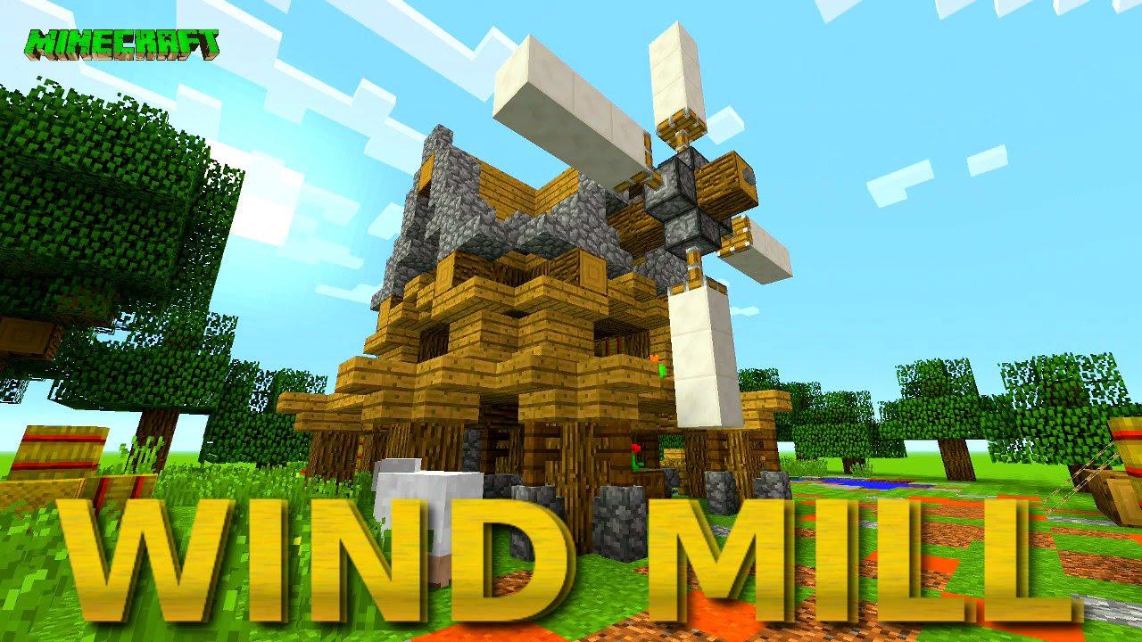 Minecraft: Wind Mill Inspiration | Small Survival WindMill | Design Ideas  2016
