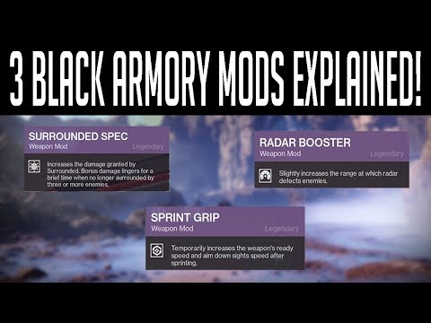 Black Armory Mods: Sprint Grip, Surrounded Spec, and Radar Booster Review
