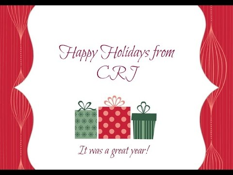 Holiday Message from CRJ