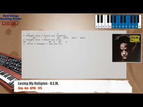 Best Songs Backing Tracks Bsbt Losing My Religion Rem Piano