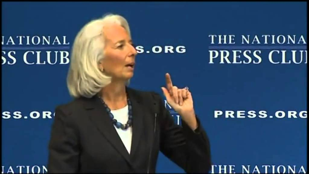 Occult Message in Speech by Christine Lagarde of IMF - YouTube