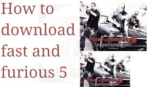 How to download fast and furious 5 in dual audio (Hindi + English)