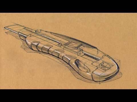 Industrial Design Sketching - Drawing and Shading a Utility Knife