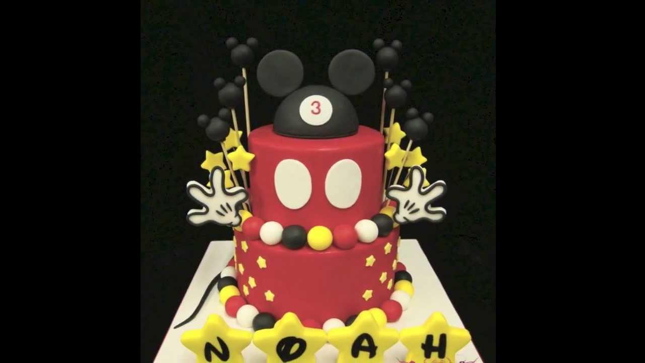 Mickey Birthday Cake Youtube