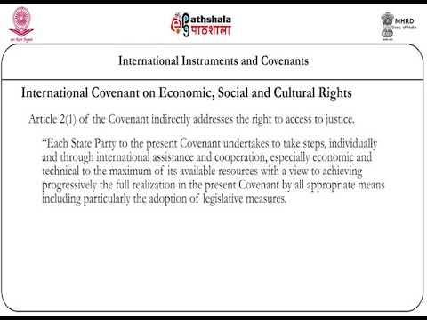 International Instruments and Covenants