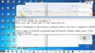 How to make windows 7 look like windows 8 with AERO LITE METRO theme - part 1