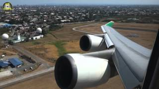 boeing 747 400 of eva air full performance takeoff from manila to taipei airclips