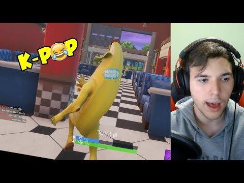 DANÇANDO UNS K-POP NO FORTNITE... (banana 👍)