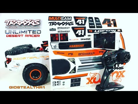 TRAXXAS UDR FOX DECALS FOR CLEAR BODY