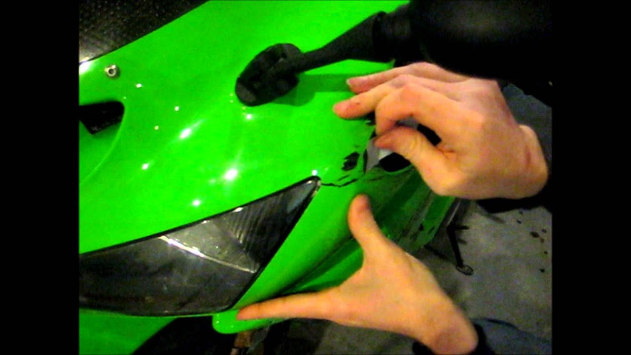 How to Fix a Motorcycle Fairing for less than $10 - YouTube