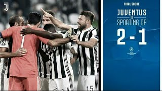 Juventus vs Sporting Lisbon 2-1 UCL All Goals  18102017