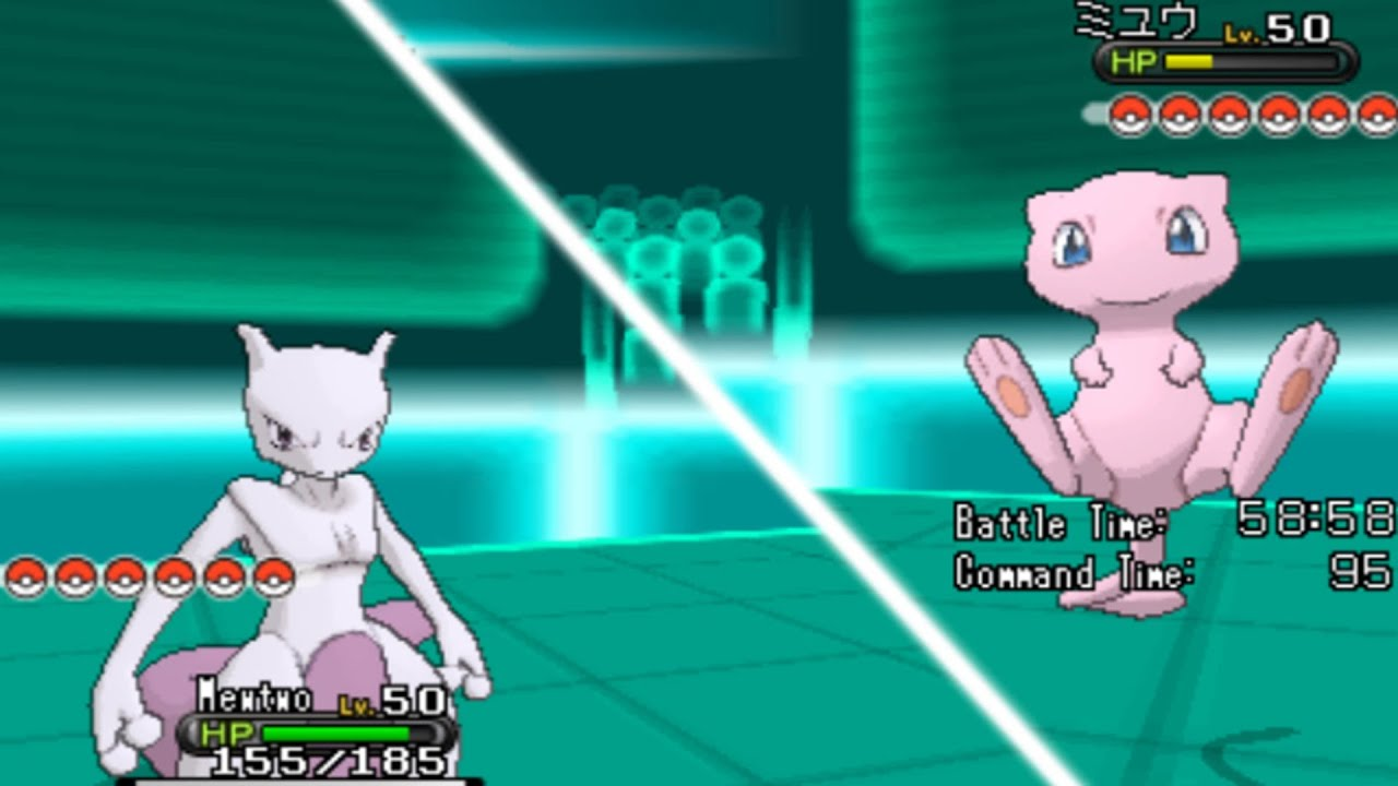 pokemon x and y legendary wifi battle mew vs mewtwo
