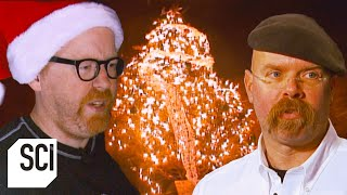 Can Christmas Tree Lights Spark a Fire? | MythBusters