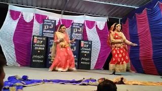 Madhuri dixit's Chane ke khet mein song dance   Navya and Sri valli 
